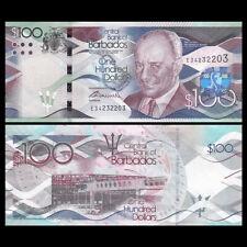 Barbados 100 Dollars, 2016, P-78,banknotes, UNC