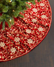 Sudha Pennathur Velvet Christmas Tree Skirt  ($995) w/tax