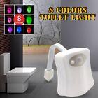 NEU 8 Farbe Motion Sensor LED Toilettendeckel WC Sitz Klobrille WC Nachtlicht