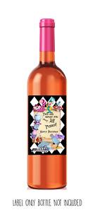 Funny, cute WINE LABEL. Alice in Wonderland Drink Me! Birthday, present, gift