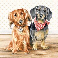 10 Servietten Playing dogs Hunde Ball Beagle Serviettentechnik Tiere 1//4 Schmett