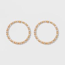 Crystal Hoop Earrings Nwt Sugarfix by BaubleBar Delicate Gold