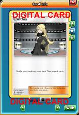 4X Cynthia 119/156  Pokemon Online Card TCG PTCGO Digital Card