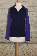 Columbia Purple And Navy Pull Over 1/4 Zip Cotton Medium