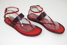 Valentino Rouge Absolute  Leather Flat Sandals  sz US 11 / EU 41