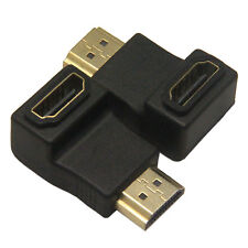 25FT Gold Plated 1.4 Braided HDMI Cable +90 Degree HDMI M/F Extension Adapter