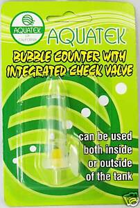 AQAUTEK Bubble Counter with Integrated Check Valve- Compact Design