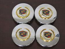 "Cadillac center caps hubcaps STS DTS CTS SRX XLR chrome wheel 2 5/8"" gold SET 4"