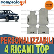 per BMW X3 E83 TAPPETINI AUTO SU MISURA VELLUTO BEIGE FONDO GOMMA + 4 RICAMI TOP