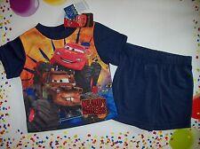 Cars Pajamas Sleepwear 2pc Short Set Toddler Boys Sz 12 Mos Muddy Rivers NWT