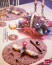 Braided Table Accessories Sewing Pattern Place Mat Coaster Flower Basket NOS