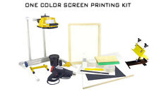 Screen Printing Press One 1 color/1station heat gun exposure stand equipment kit