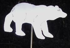 Black Bear Brown Metal Garden Cabin Yard Lawn Art Stake
