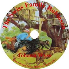 The Swiss Family Robinson, Johann Wyss Classic Audiobook on 1 MP3 CD Free Ship