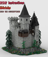 Lego MOC Classic Style Castle Custom Medieval Model instructions, NO PARTS