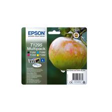 4 CARTOUCHES ORIGINAL EPSON T1295 L Stylus Office / SX - Workforce C13T12954022