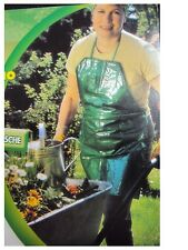 BRAND NEW GARDENING APRON 4 POCKETS GREEN APRON4 HANDY POCKETS NON- ABSORBENT MA