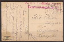 AUSTRIA / ITALY. AIR FORCE FELDPOST. 1916. WW1. FPO 374. FLIEGERKOMPANIE 50.
