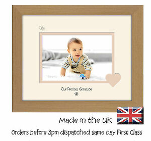 Our Precious Grandson 6x4 Photo Frame Double Mounted Quality Gift 732F