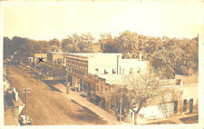 Toulon Il Aerial View Storefronts Dirt Street Real Photo Postcard