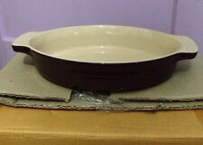 Le Creuset 9 1/2 9.5 Inch In Oval Baking Dish Casserole Dark Chestnut Brown NEW