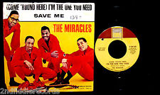 THE MIRACLES-I'm The One You Need+Save Me-Rare Picture Sleeve+45-TAMLA #T54140