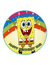 SPONGEBOB RAINBOW Cake Image  Personalised Birthday Decoration Party Topper
