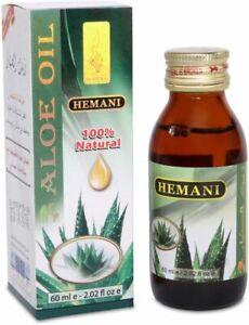 Hemani Aloe vera Oil 60ml. 100% Natural and Cold Pressed