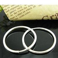 2 pares de plata esterlina pequeños aretes finos sin fin aro redondo  A9ES