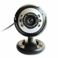 USB 30.0M 6 LED Webcam Camera Web Cam With Mic for Desktop PC Laptop DT