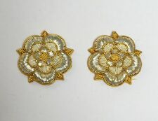 Coldstream Guards Collar Badges, Mess Dress, Hand Embroidered, Army, Military