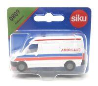 Siku Poland Edition #0809 Ambulance Ambulans Van white blister card Rare