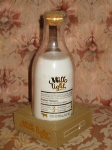 Lamp Milk Bottle RE-Chargeable via USB by Luckies - White Night Light