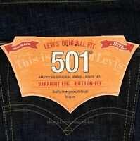 Levis 501 Jeans New Mens Size 34 x 34 DARK BLUE With Fade Original Levi's NWT
