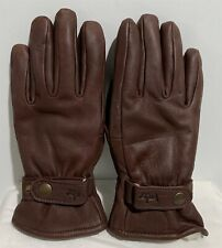 Womens Leather Brown Winter Glove Size L Large