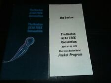 Star Trek Convention Program and Pocket Program lot of (4) 1976 Boston