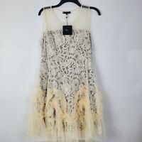 NWT RYU Women's L Large Ivory Cream Modcloth Tulle Lace Dress
