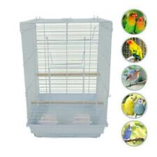 "New 23"" Bird Cage Pet Supplies Metal Cage Cages with Open Play Top White"