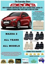 Mazda 2 2014-2018 Genuine Sheepskin Car Seat Covers Pair 22MM TC Airbag Safe