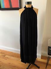 Raquel Allegra Black Crepe Sleeveless Dress