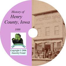1888 HENRY County Iowa IA - History & Genealogy - Ancestry Family  - CD DVD