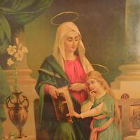 Reproducción Impresión Religión Cristianismo Virgen Niño Siglo XVIII Francia