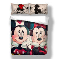 Mickey Minnie Duvet Cover Set For Comforter Twin/Queen/King Size Bedding Set