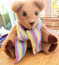 Hand knitted teddy bear clothes - scarf - medium