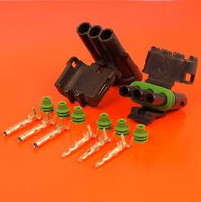 Authentique 3 Way/broches Mâle & Femelle Delphi Weatherpack Series Connecteur Kit