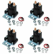 (4) New RELAY SOLENOIDS for Western Fisher Meyers Snowplows 4 Post w/ Hardware