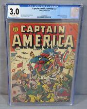 CAPTAIN AMERICA COMICS #27 (Classic Alex Schomburg Cover) CGC 3.0 Timely 1943