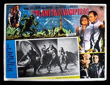El PLANETA De Los VAMPIROS-Rare Italian Lobby Card-1965 Spaghetti Horror Film