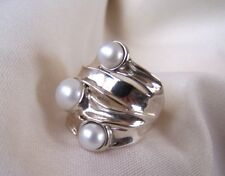 Pearl Hagit Gorali, from Israel, Sterling Silver, 925  Size 9 1/2 STUNNING& MINT