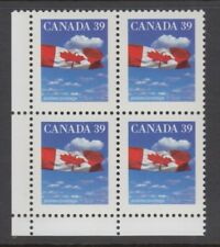 CANADA 39c PLATE BLOCK 1166cLL MNH FLAG OVER CLOUDS, AP, PERF 12.8 x 13.1 BLANK